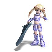 image of paladin  - female manga paladin with huge sword - JPG