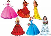 stock photo of fairy-tale  - Beautiful girls - JPG