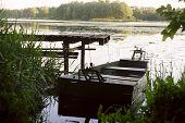 Green Lake And Rowing Boat