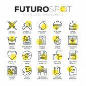 Video Gaming Futuro Spot Icons poster