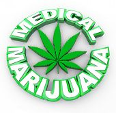 image of maryjane  - The words medical marijuana surrounding a cannabis leaf icon - JPG
