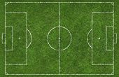 picture of football pitch  - over head shot of a football  - JPG