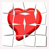 Broken, Torn And  Shattered Heart