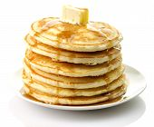 foto of maple syrup  - Golden pancakes with butter and maple syrup - JPG