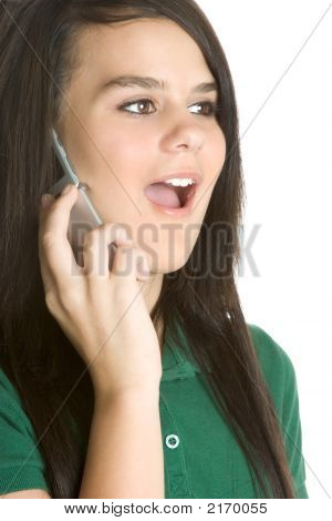 Surprised Phone Girl