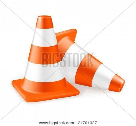 Traffic cone, icon