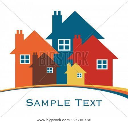 House or real estate illustration.