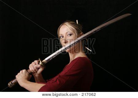 Female With A Samurai Sword