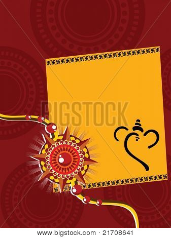 artistic design background with rakshabandhan greeting card