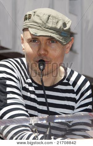 LOS ANGELES - JUN 25: Billy Corgan at a ceremony for the Canadian band 'Rush' who receive a star on the Hollywood Walk of Fame in Los Angeles, California on December 18, 2010