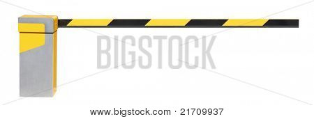 Closed Car Barrier isolated on white background