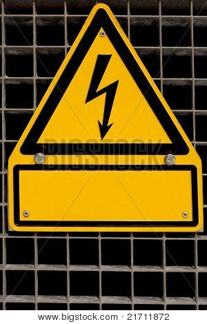 High Voltage Sign with copyspace