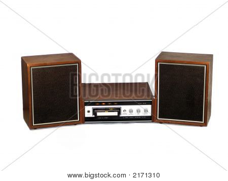 8 Track Player With Speakers