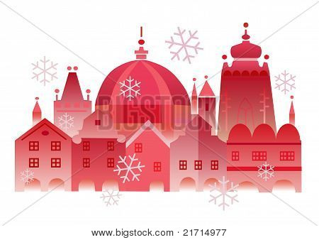 Christmas winter historical town