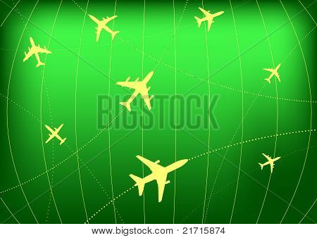 Airplane Routes on Radar Screen