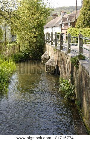 River Darent At Shoreham. Kent. UK