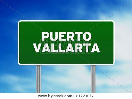 Puerto Vallarta Highway Sign