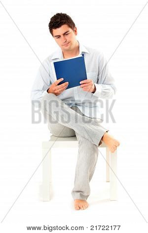 Young Man With Documents