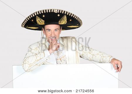 portrait of a man with sombrero