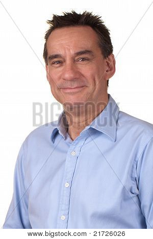 Portrait of Attractive Smiling Man