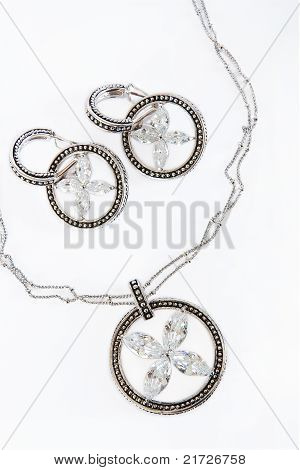 Silver Necklaces And Earings