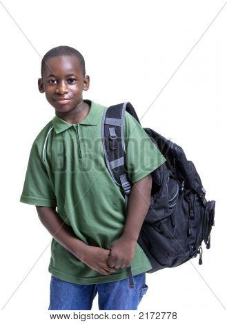 Joven estudiante masculino