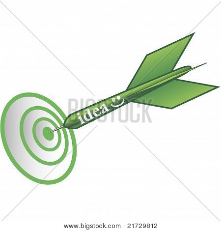 Idea On Target In Green Colour.