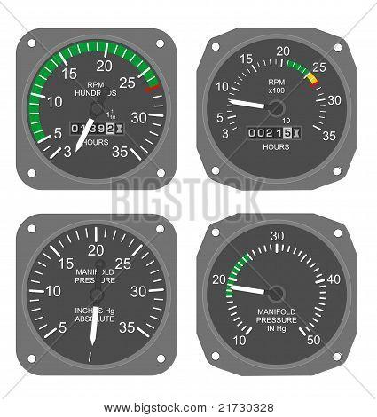Conjunto de manômetros de aeronaves