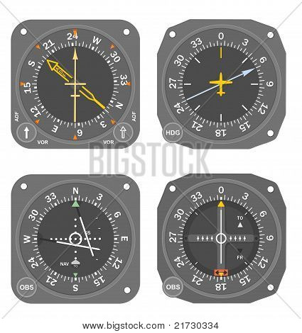 Aircraft instruments set