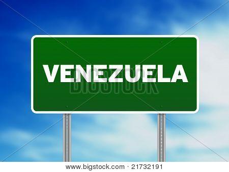 Venezuela Highway  Sign