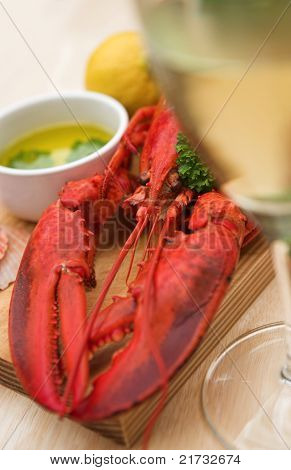 Lobster Dinner With Wine
