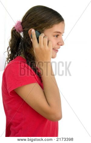 Teenage On The Cell Phone