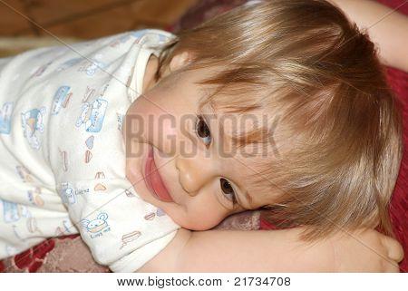 Cheerful child.