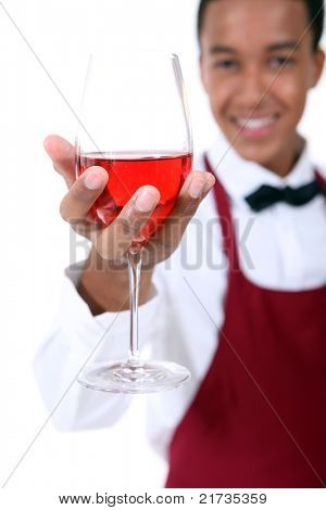 Vidrio de explotación vino sommelier
