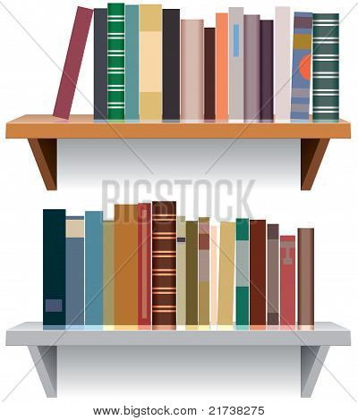 Vector Modern Bookshelves