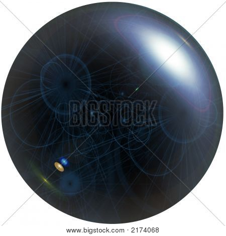 An Illustration Of The Blue Abstract Crystal Ball