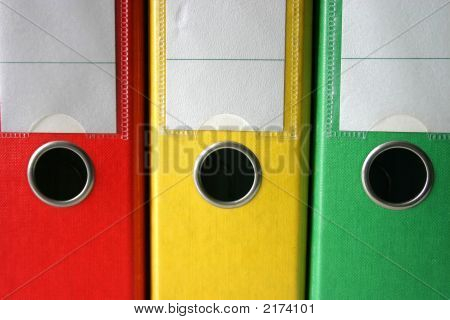 Three Colored Files
