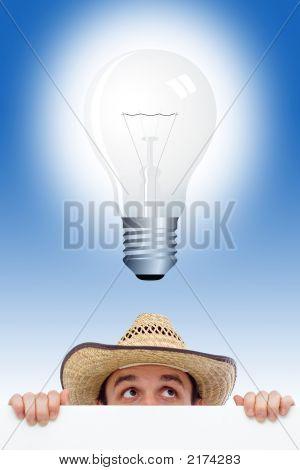 Mann mit einer Idee