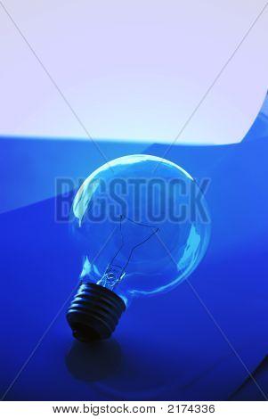 Light Bulb And Blue