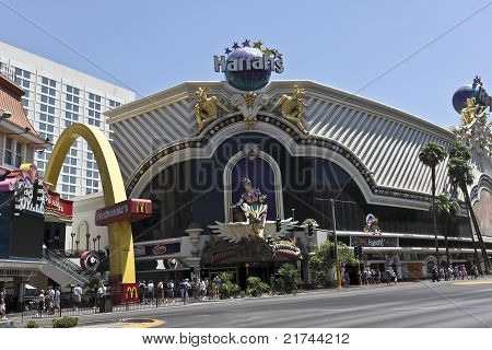 A View Of Harrahs In Las Vegas, Nevada