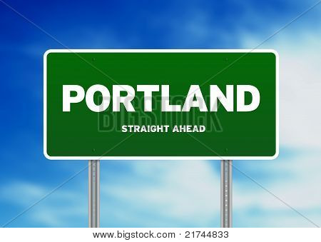 Portland, Oregon Highway Sign