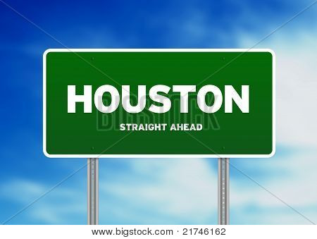 Houston, Texas Highway Sign