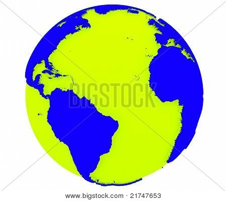 Earth isolated with white background