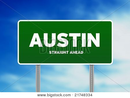 Austin, Texas Highway Sign