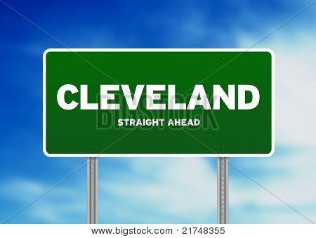Cleveland, Ohio Highway Sign