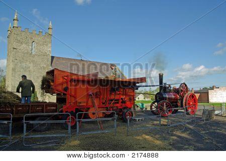 Threshing By Steam