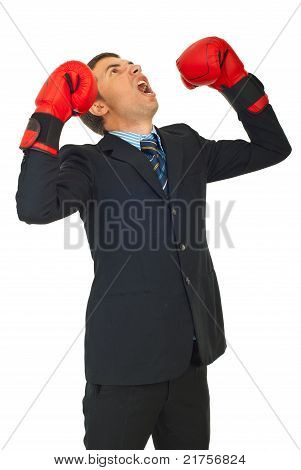 Furious Business Man Shouting
