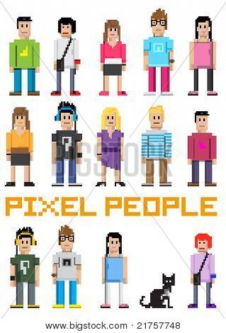 Vector Pixel People!