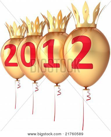 New 2012 Year golden balloons Royal party decoration