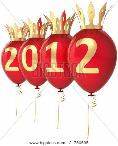 2012 Happy New Year Royal balloons